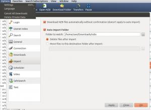 newshosting for windows Settings
