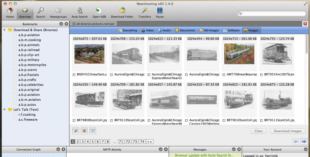 Newshosting Usenet Browser Image Viewer
