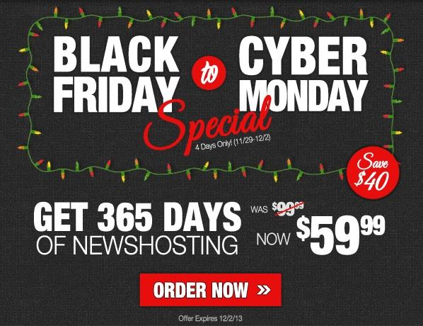 Black Friday to Cyber Monday Special for New Accounts