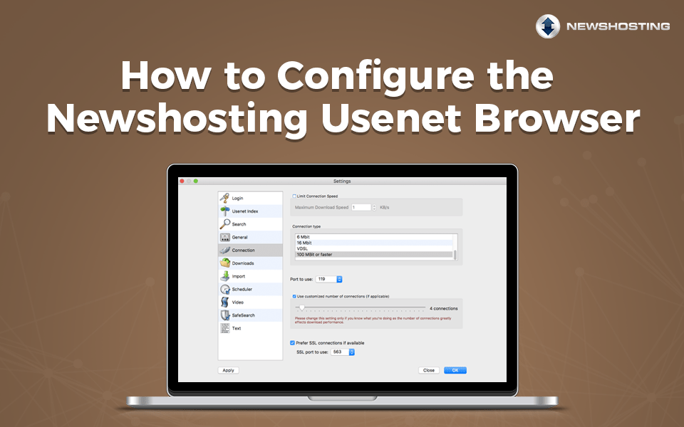 How to Configure the Newshosting Usenet Browser